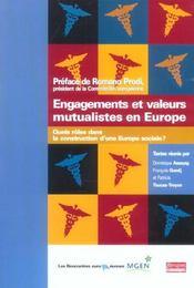 Engagements et valeurs mutualistes en Europe ; quels rôles dans la construction d'une Europe sociale? - Intérieur - Format classique