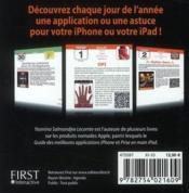 Iphemeride 2011 ; 1 jour = 1 application ou astuce pour iPhone et iPad - 4ème de couverture - Format classique