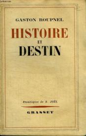 Histoire Et Destin. - Couverture - Format classique