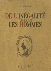 De L'Inegalite Parmi Les Hommes - Couverture - Format classique