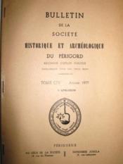 Bulletin de la Société Historique et Archéologique du Périgord. Paraissant tous les trois mois. (Tome CIV, 3e Livraison). - Couverture - Format classique