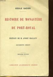 Histoire Du Monastere De Port-Royal - Couverture - Format classique