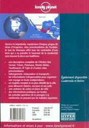 Mexique ; Le Sud ; 4e Edition - 4ème de couverture - Format classique