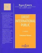 Droit International Public ; 3e Edition - Intérieur - Format classique