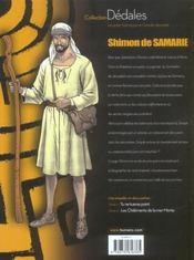 Shimon De Samarie T.1 ; Tu Ne Tueras Point - 4ème de couverture - Format classique