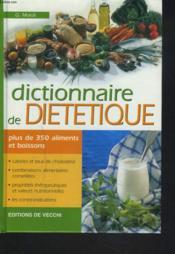 Dictionnaire De Dietetique - Couverture - Format classique