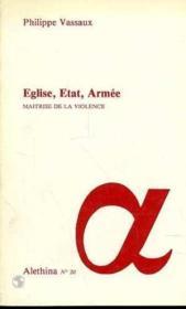 Eglise Etat Armee - Couverture - Format classique