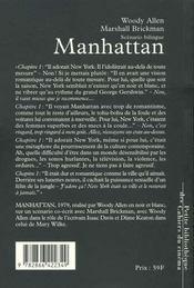 Manhattan - 4ème de couverture - Format classique