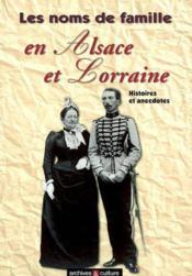 Noms De Famille En Alsace Lorraine - Couverture - Format classique
