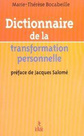 Dictionnaire De La Transformation Personnelle - Intérieur - Format classique