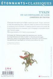 resume du chapitre 1 de yvain le chevalier au lion