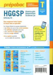 Prépabac cours & entraînement ; HGGSP, spécialité ; terminale générale (édition 2020/2021) - 4ème de couverture - Format classique