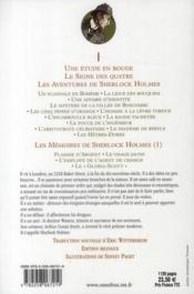 Sherlock Holmes ; Les Aventures De Sherlock Holmes T.1 - 4ème de couverture - Format classique