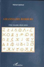 Grammaire Berbere - Intérieur - Format classique