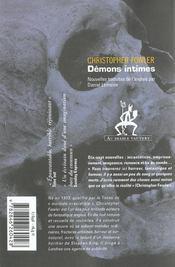 Demons Intimes - 4ème de couverture - Format classique