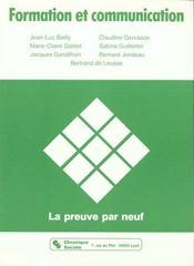 Formation et communication la preuve par neuf - Intérieur - Format classique