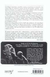 Mes chansons des quatre saisons (2e édition) - 4ème de couverture - Format classique