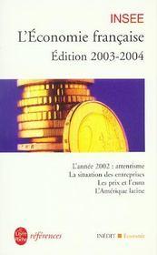 L'Economie Francaise 2003-2004 - Intérieur - Format classique