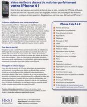 Le livre de l'iPhone 4 - 4ème de couverture - Format classique