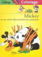 Mickey Et Ses Amis A La Decouverte Des Animaux, Disney Coloriage - Intérieur - Format classique