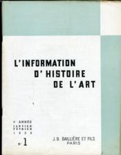 INFORMATION D'HISTOIRE DE L'ART n°1 : Le
