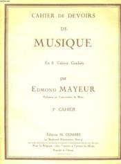 Cahier De Devoirs De Musique - En 8 Cahiers Gradues - 3eme Cahier - Couverture - Format classique
