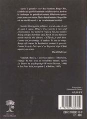 Erection : piege A cons - 4ème de couverture - Format classique