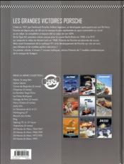 Les grandes victoires Porsche T.1 ; 1952/1968 - 4ème de couverture - Format classique