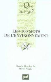Les 100 mots de l'environnement - Intérieur - Format classique
