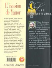L'Evasion De Yanor - 4ème de couverture - Format classique