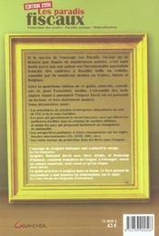Les paradis fiscaux (edition 2006) - 4ème de couverture - Format classique