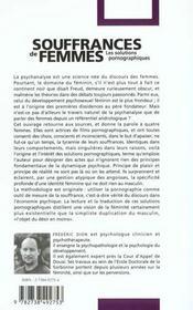 Souffrances De Femmes ; Les Solutions Pornographiques - 4ème de couverture - Format classique