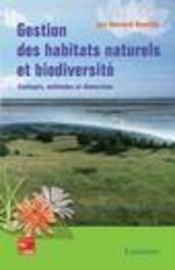 Gestion des habitats naturels et biodiversite - Intérieur - Format classique