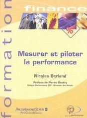 Mesurer et piloter la performance - Intérieur - Format classique