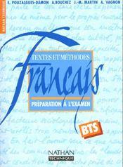 Francais ; textes et methodes - Intérieur - Format classique