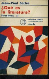 Que Es La Literatura?, Situations, Ii - Couverture - Format classique