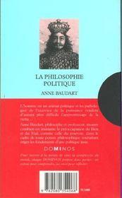 La Philosophie Politique - 4ème de couverture - Format classique