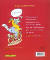 Les devinettes du chat vert - 4ème de couverture - Format classique