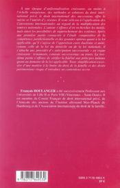 Droit International Des Successions ; Nouvelles Approches Comparatives Et Jurisprudentielles - 4ème de couverture - Format classique