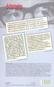 Allende ; La Face Cachee ; Antisemitisme Et Eugenisme - 4ème de couverture - Format classique