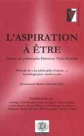 L'Aspiration A Etre ; Autour Du Philosophe Ebezener Njoh-Mouelle - Intérieur - Format classique
