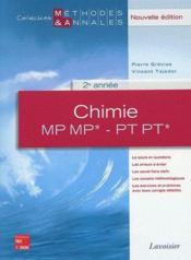 Chimie ;MP, MP*, PT, PT*, 2ème année - Couverture - Format classique