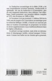 L'aventure de la tob ; 50 ans de traduction oecuménique de la Bible - 4ème de couverture - Format classique