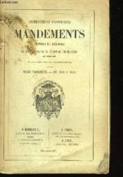Instructions Pastorales Mandements. Lettres et Discours de Son Eminence le Cardinal-Archevêque de Bordeaux. TOME III : de 1853 à 1856. - Couverture - Format classique