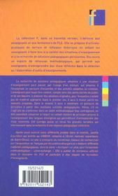 Elaborer un cours de fle - 4ème de couverture - Format classique