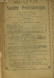 Bulletin De La Societe Prehistorique Francaise. T. Xxx. N°1. Janvier 1933. - Couverture - Format classique