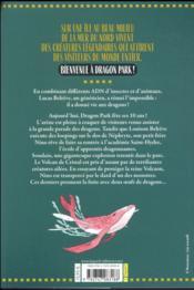 Dragon park t.1 ; l'académie Saint-Hydre - 4ème de couverture - Format classique