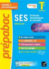Prépabac cours & entraînement ; SES, spécialité ; terminale générale (édition 2020/2021) - Couverture - Format classique