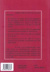 Code Civil 2006, Edition 105 - 4ème de couverture - Format classique