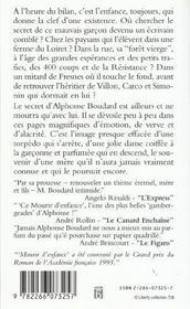 Mourir D'Enfance - 4ème de couverture - Format classique